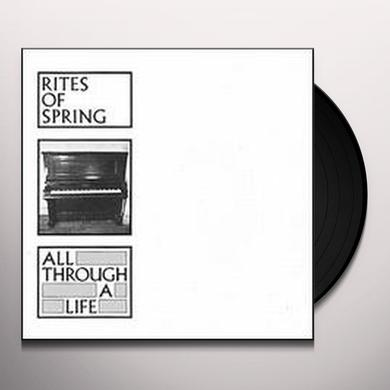 Rites Of Spring ALL THROUGH A LIFE Vinyl Record - Canada Import
