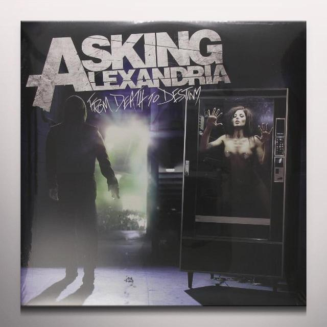 Asking Alexandria FROM DEATH TO DESTINY (WHITE VINYL) Vinyl Record - Colored Vinyl