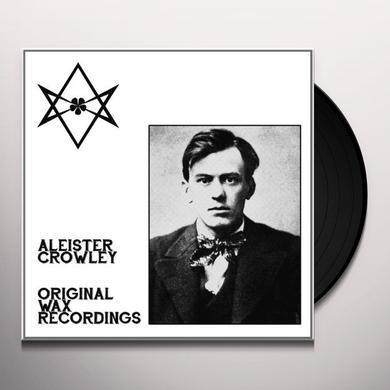 Aleister Crowley ORIGINAL WAX RECORDINGS Vinyl Record