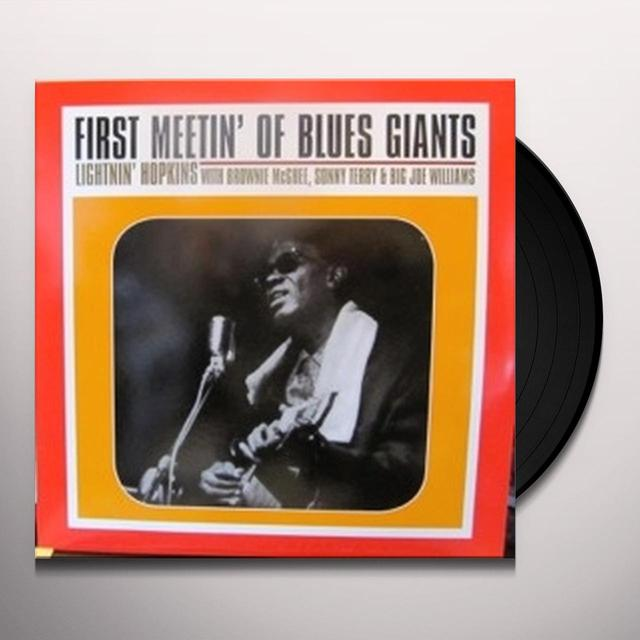 Lightnin' Hopkins on Spotify FIRST MEETIN OF BLUES Vinyl Record