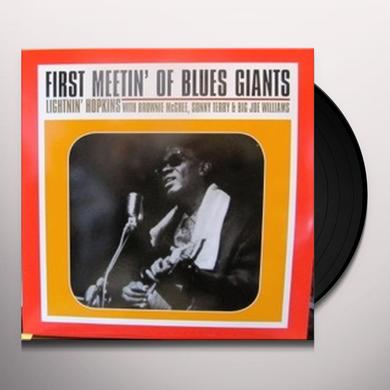 Lightnin' Hopkins on Spotify FIRST MEETIN OF BLUES Vinyl Record