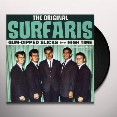 Original Surfaris GUM-DIPPED SLICKS/HIGH TIME Vinyl Record