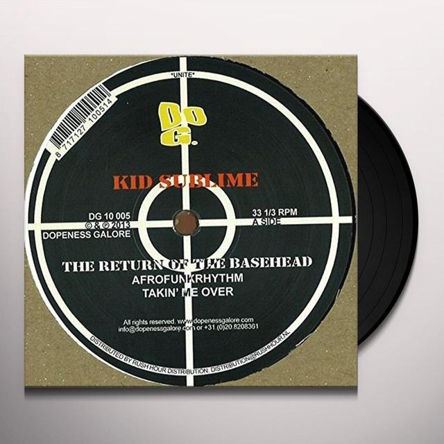 Kid Sublime RETURN OF THE BASEHEAD Vinyl Record