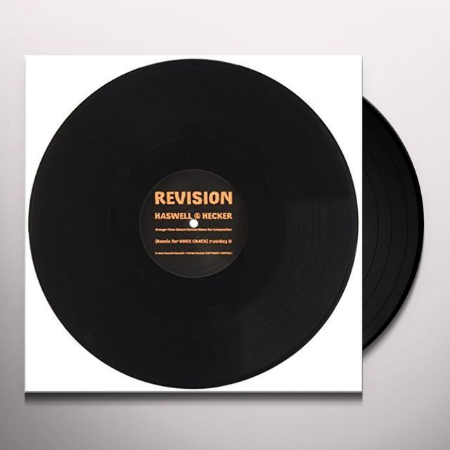 Russell Haswell & Florian Hecker REVISION Vinyl Record