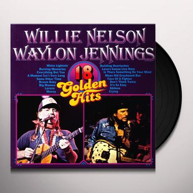 Willie / Waylon Jennings Nelson 18 GOLDEN HITS Vinyl Record