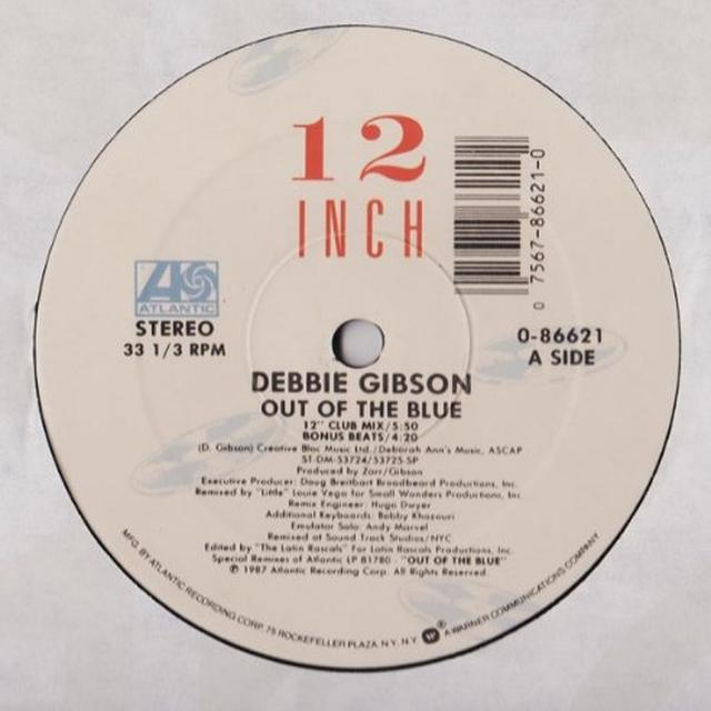 Debbie Gibson OUT OF THE BLUE Vinyl Record