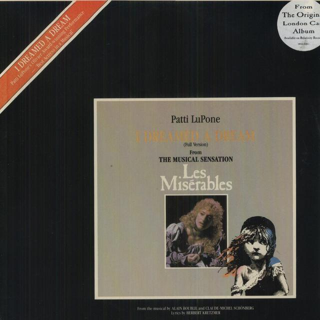 Patti Lupone DREAMED A DREAM (LES MISERABLES) Vinyl Record