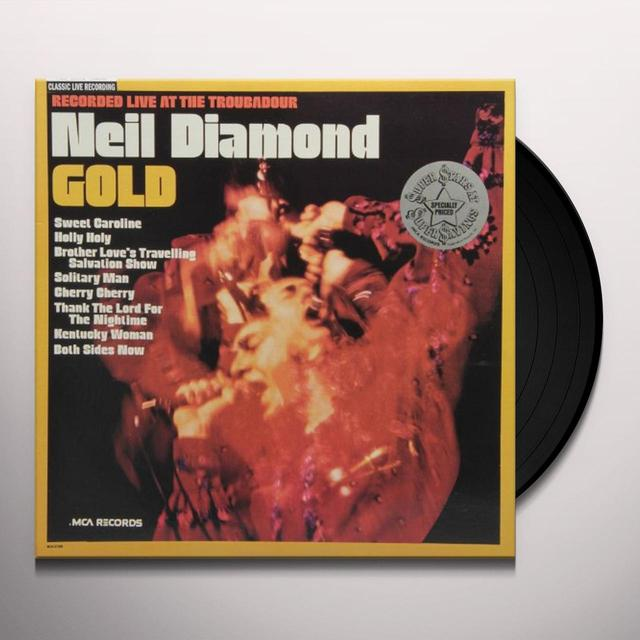 Neil Diamond GOLD (LIVE AT THE TROUBADOR) Vinyl Record
