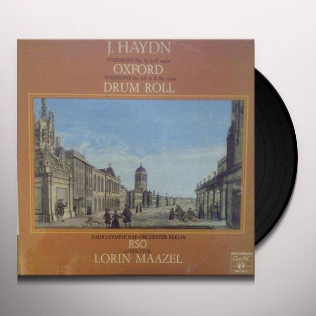 Haydn / Maazel SYMPHONIES N.92 ET 103 Vinyl Record