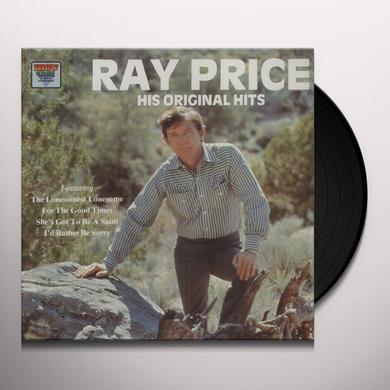 Ray Price HIS ORIGINAL HITS Vinyl Record