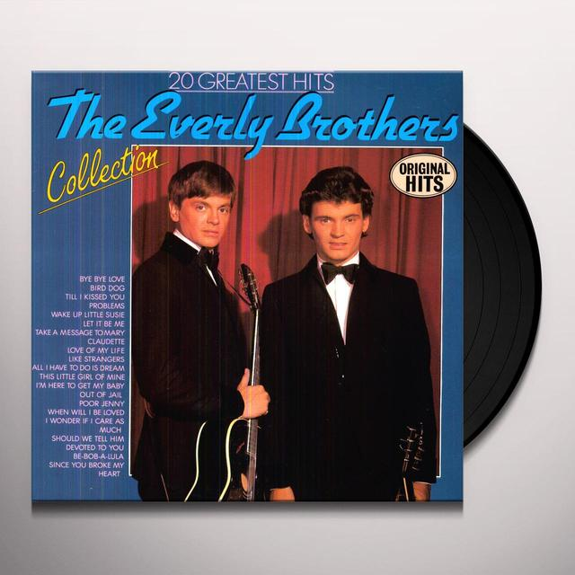 The Everly Brothers 20 GREATEST HITS Vinyl Record