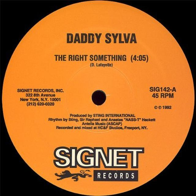 Daddy Terror Fabulous Sylva RIGHT SOMETHING / WEDDING RING Vinyl Record