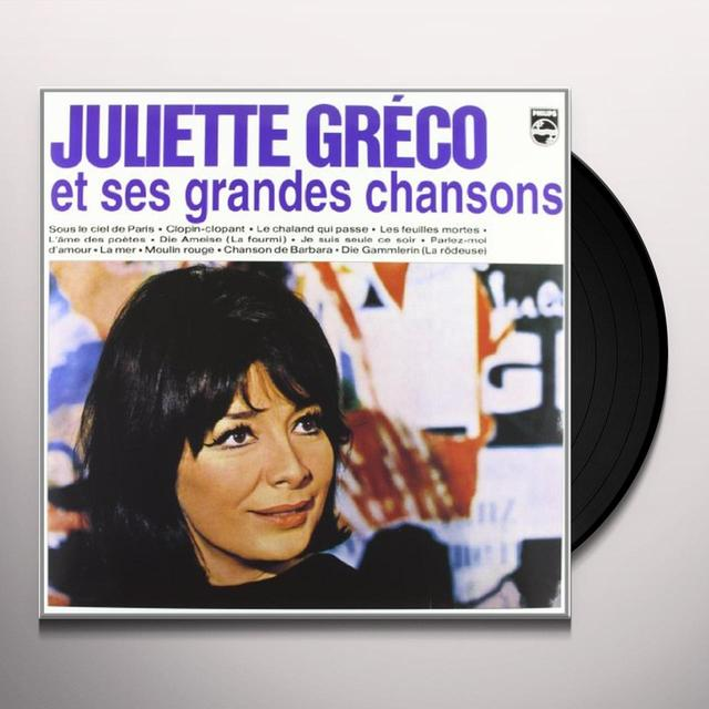 Juliette Gréco JULIETTE GRECO & HER GREATEST CHANSONS Vinyl Record