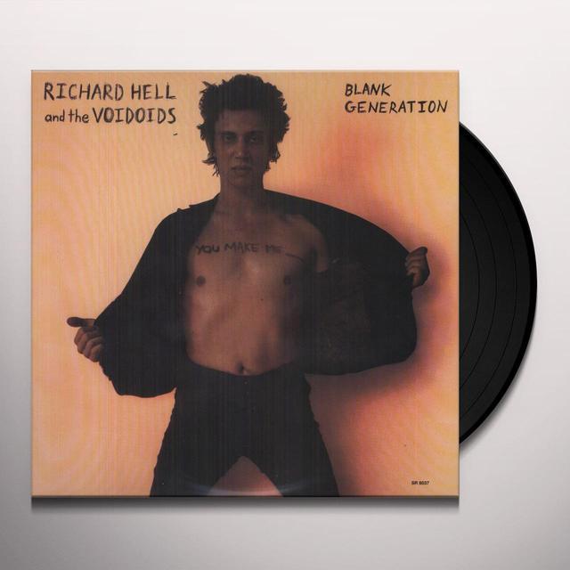 Richard Hell BLANK GENERATION Vinyl Record - Colored Vinyl
