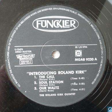Roland Kirk INTRODUCING Vinyl Record