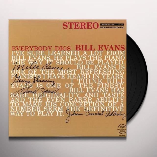 EVERYBODY DIGS BILL EVANS Vinyl Record
