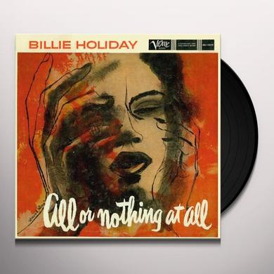 Billie Holiday ALL OR NOTHING AT ALL Vinyl Record