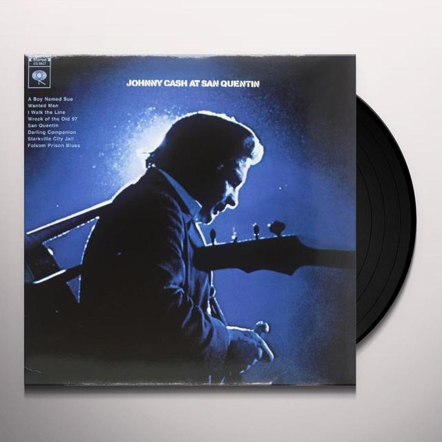 Johnny Cash AT SAN QUENTIN Vinyl Record