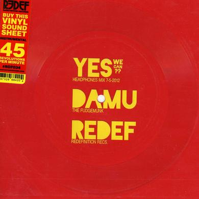 Damu The Fudgemunk YES WE CAN Vinyl Record