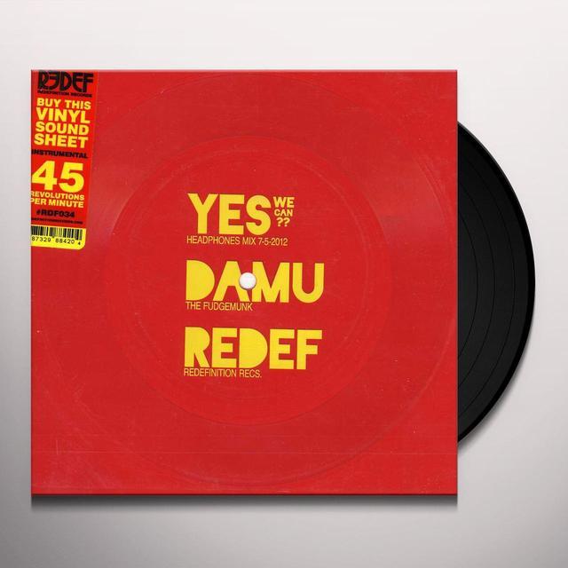 Damu The Fudgemunk YES WE CAN Vinyl Record