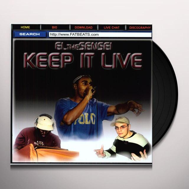 El Da Sensei KEEP IT LIVE Vinyl Record