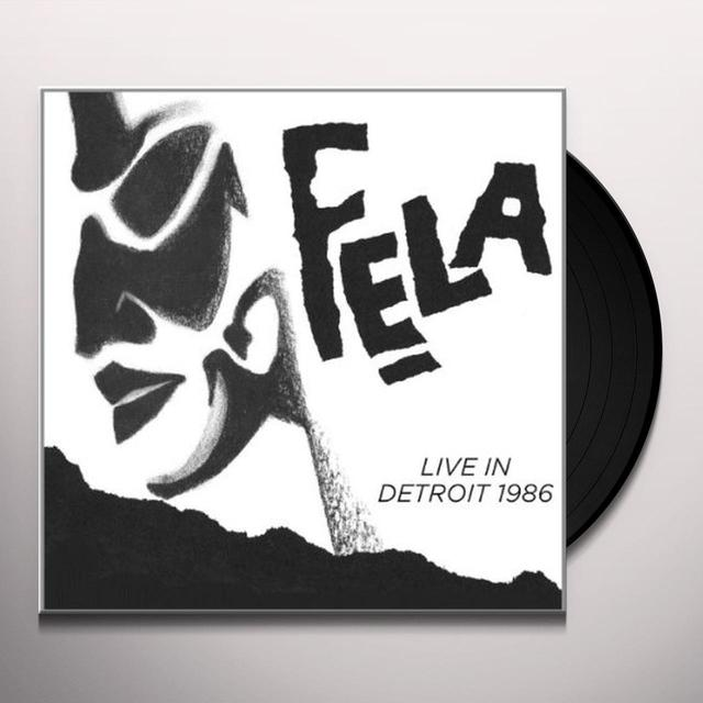 FELA KUTI LIVE IN DETROIT 1986 Vinyl Record