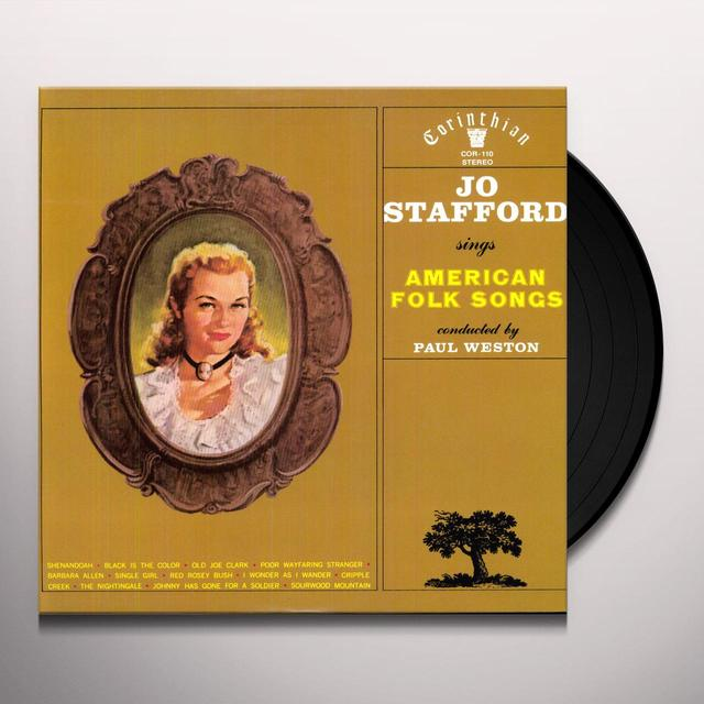 Jo Stafford SINGS AMERICAN FOLK SONGS Vinyl Record