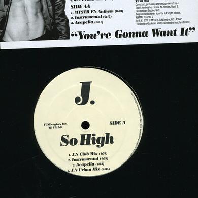 J. SO HIGH VINYL MAXI SINGLE Vinyl Record