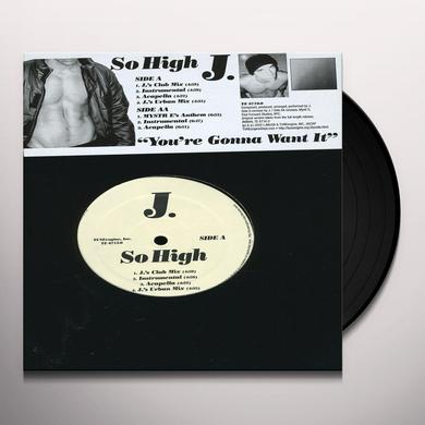 J. SO HIGH VINYL MAXI SINGLE Vinyl Record