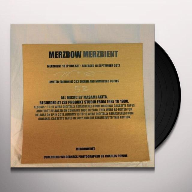 Merzbow MERZBIENT Vinyl Record
