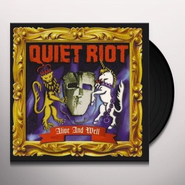 Quiet Riot ALIVE & WELL Vinyl Record