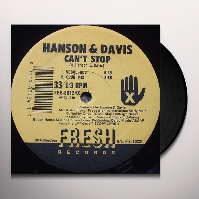 Hanson & Davis CAN'T STOP (HUNGRY FOR YOUR LOVE) Vinyl Record
