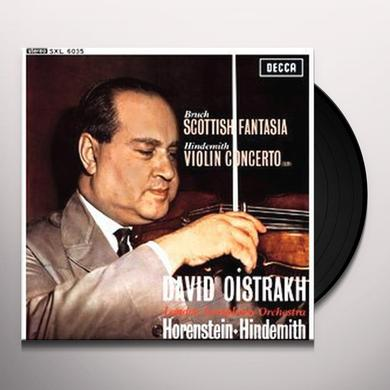 Jascha Horenstein & Paul Hindemith BRUCH-SCOTTISH FANTASIA Vinyl Record