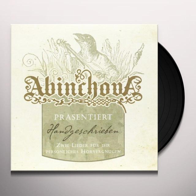 Abinchova HANDGESCHRIEBEN Vinyl Record