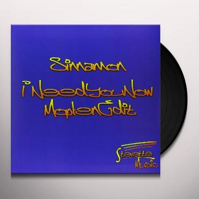 Sinnamon I NEED YOU NOW (MOPLEN EDIT) Vinyl Record