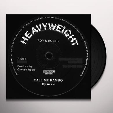 Ackie/Chesse Roots CALL ME RAMBO/RAMBO GUN SALUTE Vinyl Record