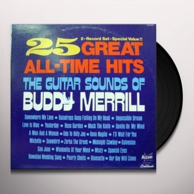 Buddy Merrill 25 GREATEST HITS Vinyl Record