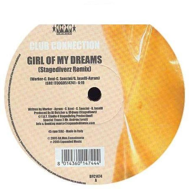 Club Connection GIRL OF MY DREAMS Vinyl Record