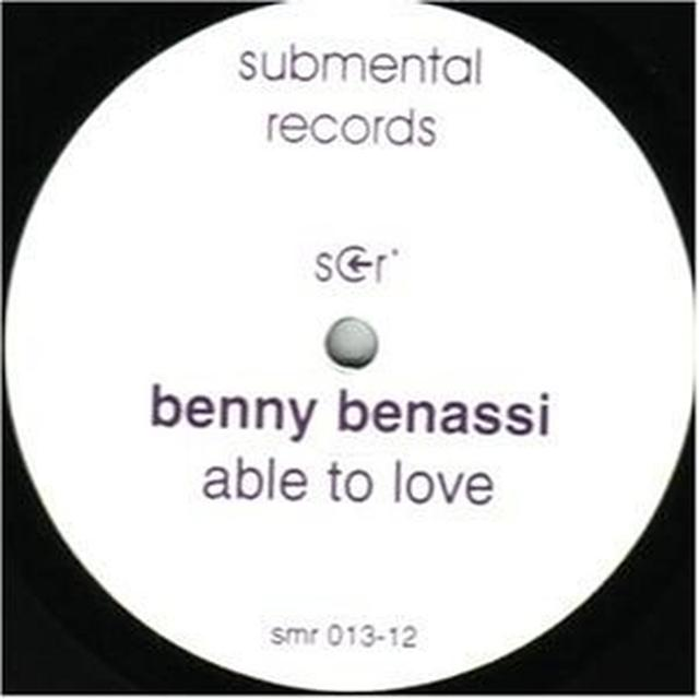 Benny Benassi ABLE TO LOVE Vinyl Record