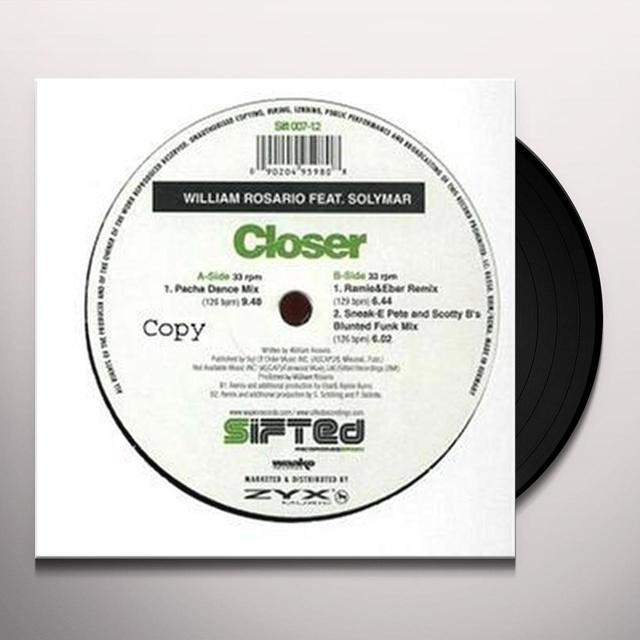 William Rosario CLOSER Vinyl Record