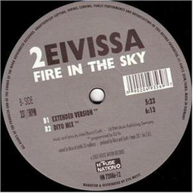 Two Eivissa FIRE IN THE SKY Vinyl Record