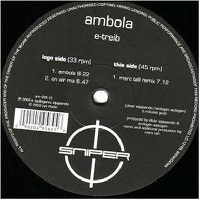 E-Tribe AMBOLA Vinyl Record