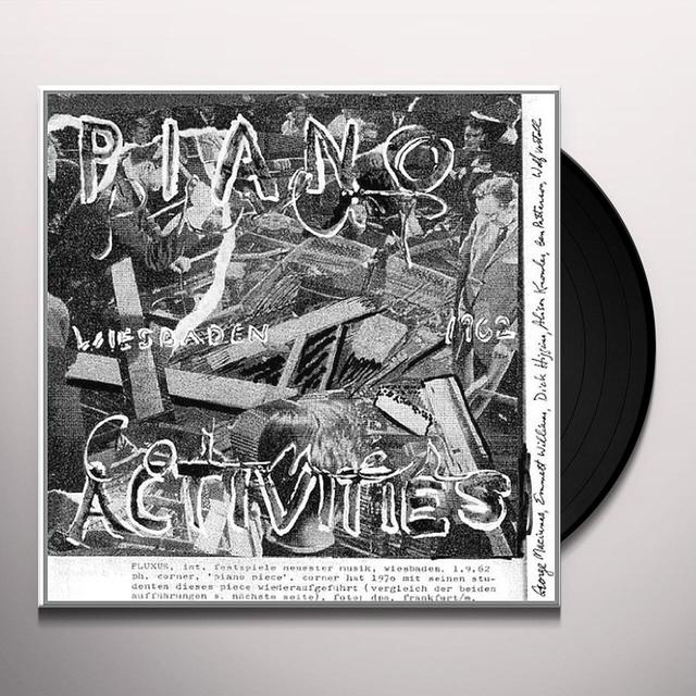 Philip Corner PIANO ACTIVITIES Vinyl Record