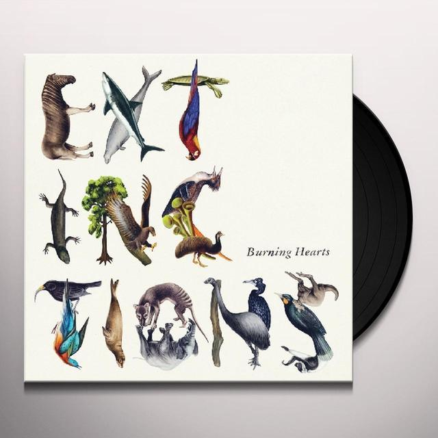 Burning Hearts EXTINCTIONS Vinyl Record