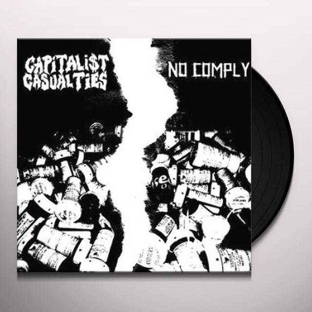 Capitalist Casualties & Nocomply PAINFUL SPLIT Vinyl Record