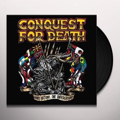 Conquest For Death MANY NATIONS ONE UNDERGROUND Vinyl Record