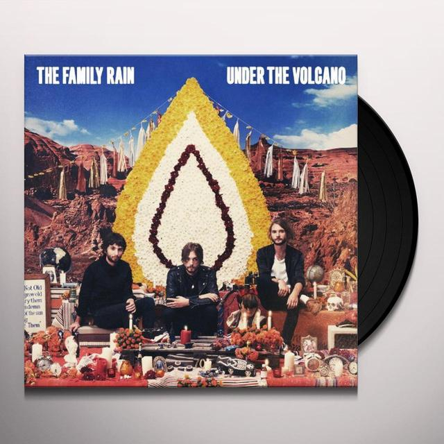 Family Rain UNDER THE VOLCANO Vinyl Record
