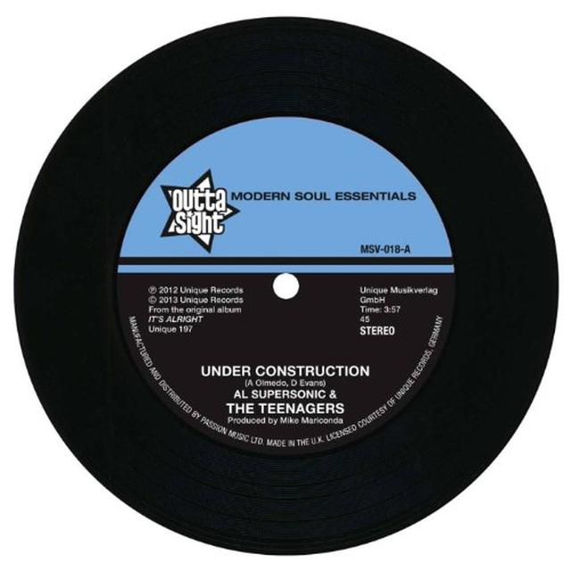 Al Supersonic & The Teenagers UNDER CONSTRUCTION/THE LOSER Vinyl Record