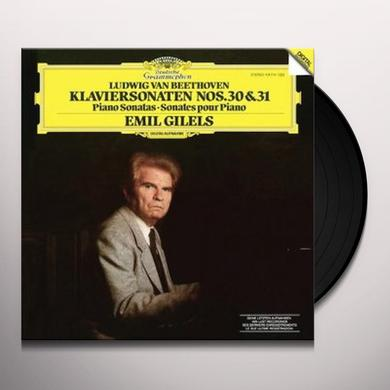 Emil Gilels BEETHOVEN: PIANO SONATA NOS. 30 & 31 (HK) Vinyl Record