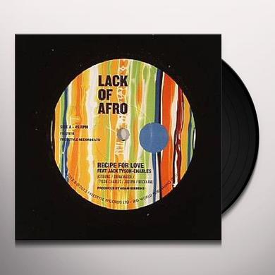 Lack Of Afro RECIPE FOR LOVE Vinyl Record